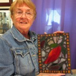 Flat Stained Glass Mosaic by Gayle Ritari
