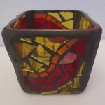 Autumn Colored Votive by Zoe Rhyne