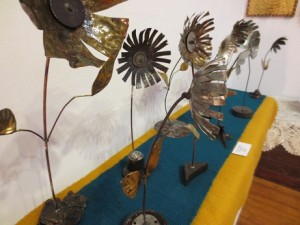 Recycled Metal Flowers by Josh Smith