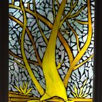 Fantasy Forest Stained Glass Mosaic by Gayle Swanbeck
