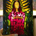 Virgen de Guadalupe Stained Glass Mosaic by Zoe Rhyne