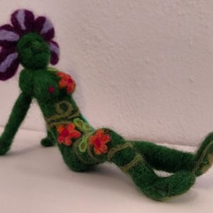 'Kickin' Back Tonight?' Needle Felted Goddess by Zoe Rhyne