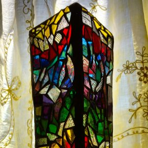 Stained Glass Mosaic Votive by Zoe  Rhyne