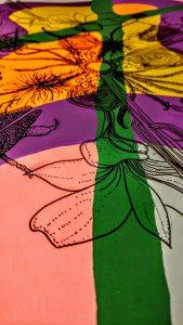 Cactus Mandala on Screen Print by Grace Rhyne
