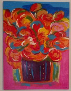 Flowers in Purple Vase by bp