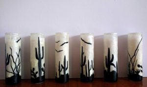 Mulberry Candles by Gayle Swanbeck