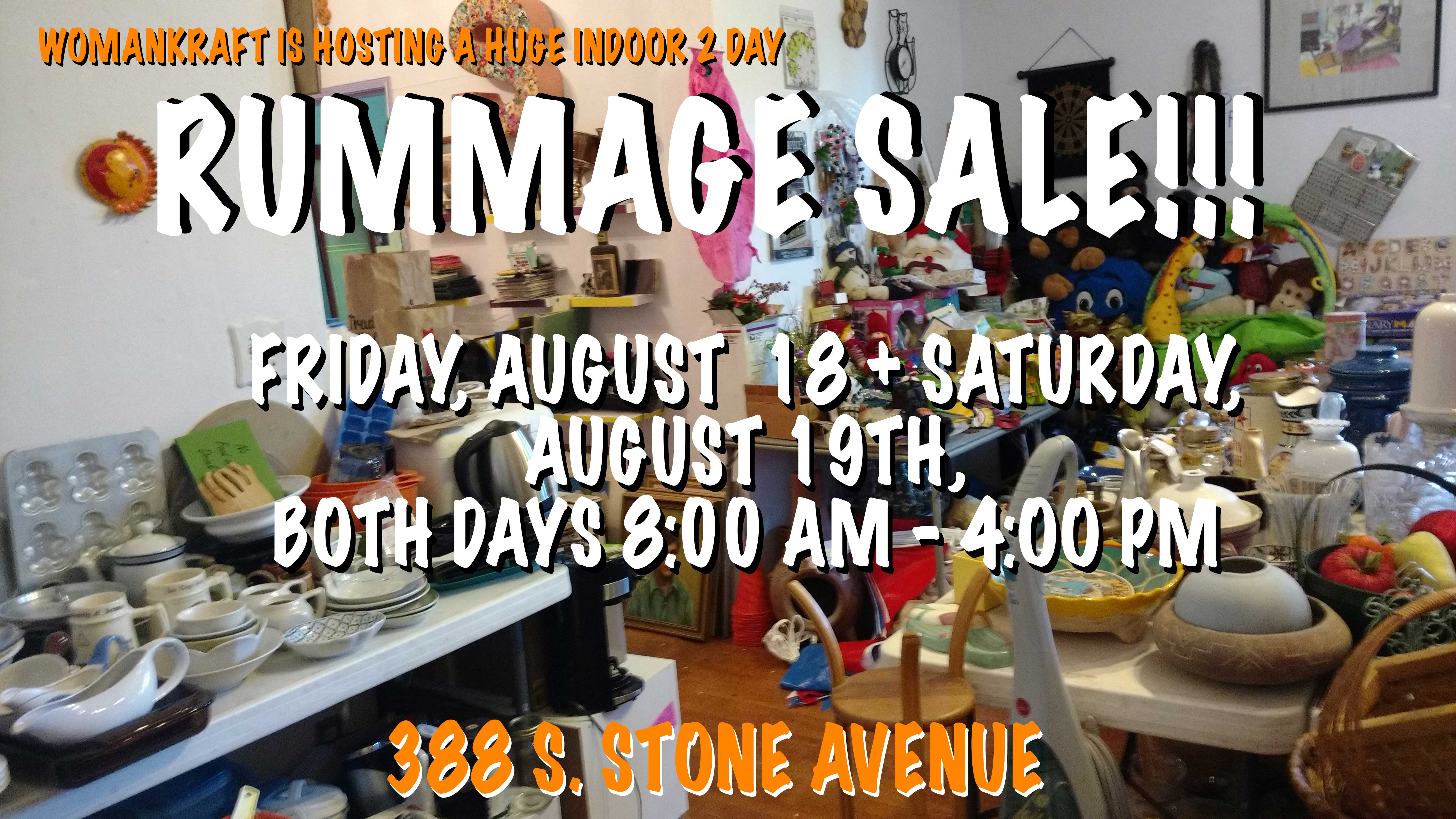 the rummage sale is here!! and so is the castle voice