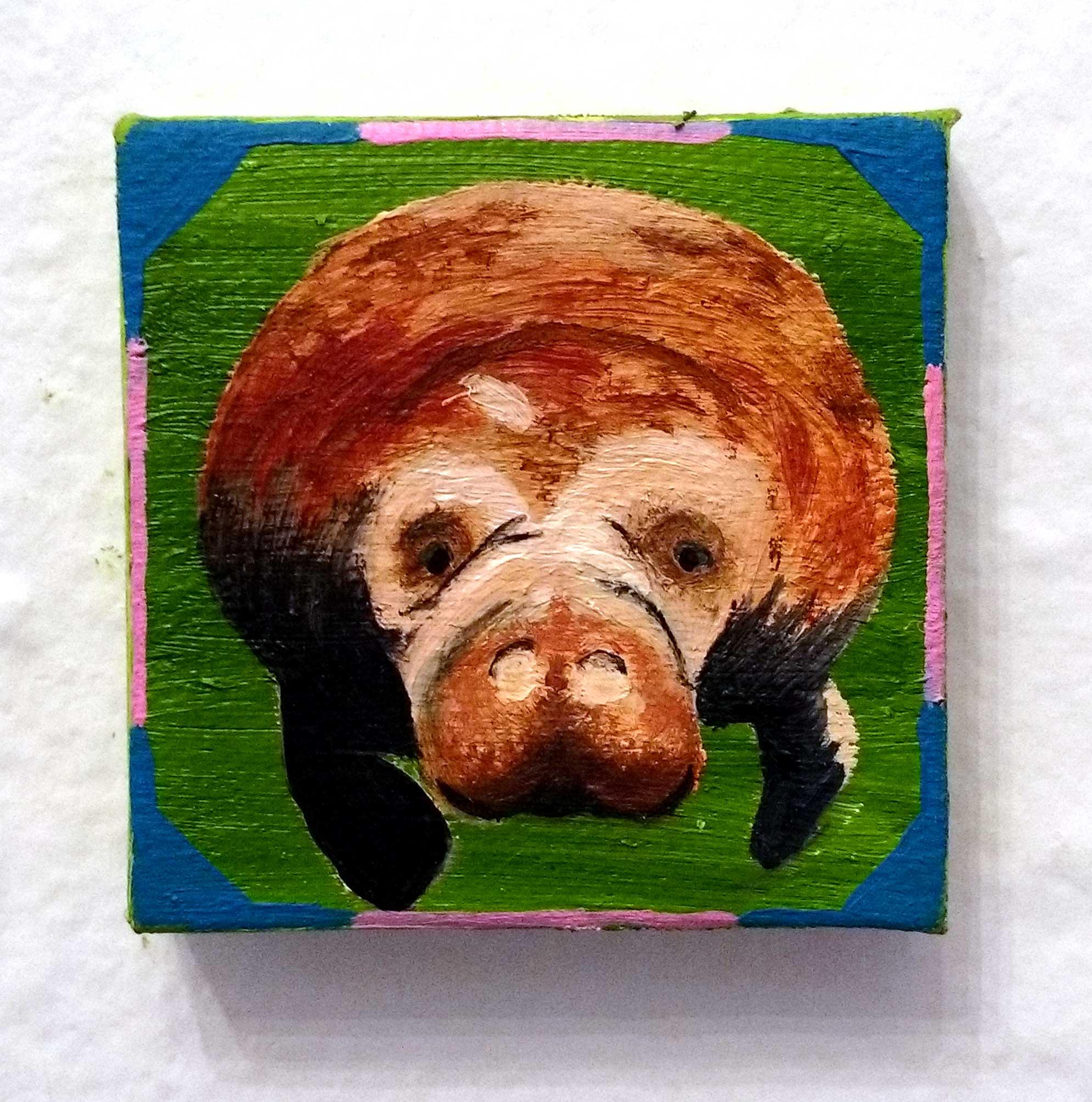 'Ani-Mini-Mal' Oil on Canvas by Zoe Rhyne