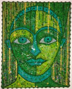 Glittering Emerald Goddess by Tony Di Angelis